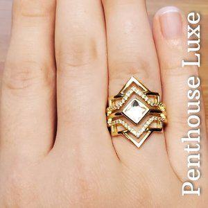 Egyptian Goddess 18k Gold Sterling Ring